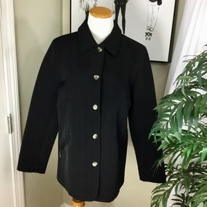 Gallery Women's Quilted Black Jacket